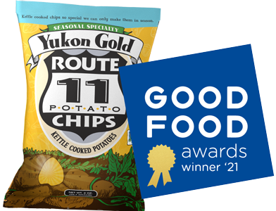 Yukon Gold Potato Chips with the Good Food Award badge