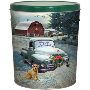 3LB Countryside Christmas Tin with No Salt Chips