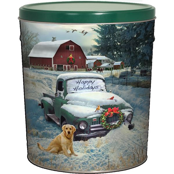 3LB Countryside Christmas Tin with Sweet Potato Chips
