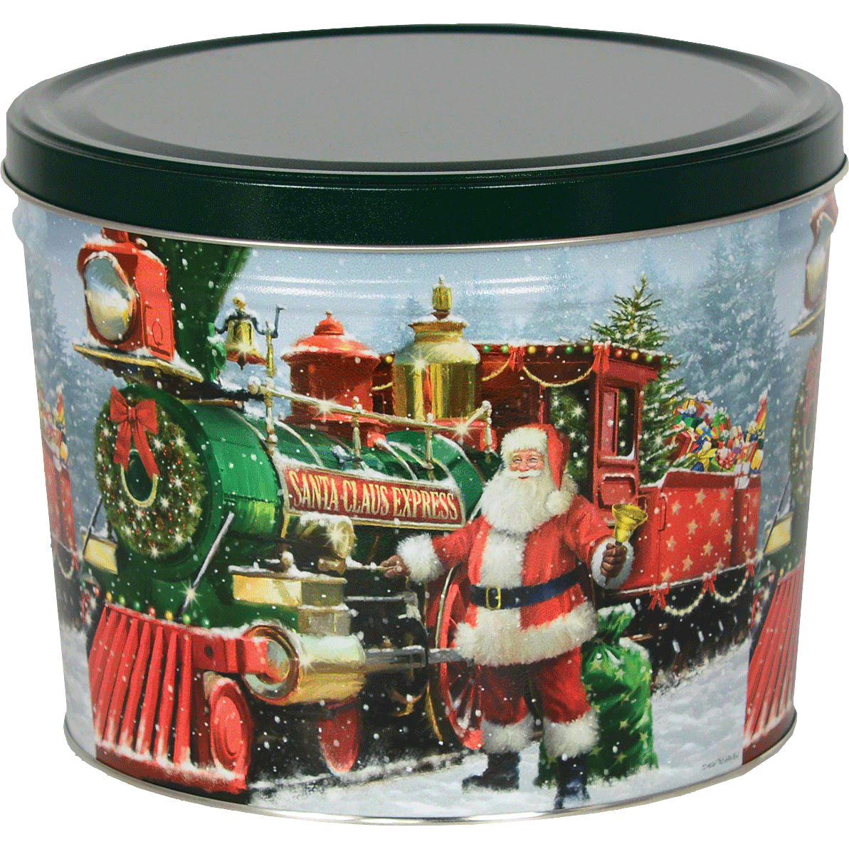 1.5 LB Santa Express Tin with Barbeque Chips