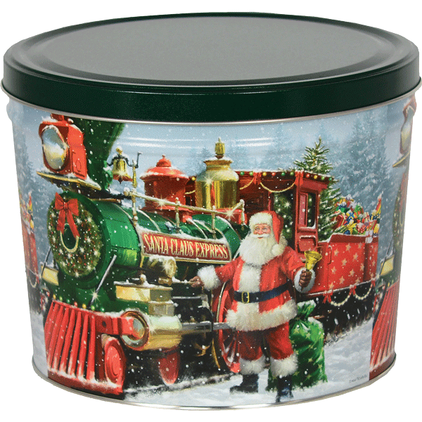 1.5 LB Santa Express Tin with Dill Pickle Chips