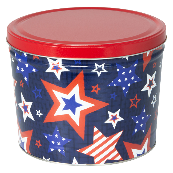 Product Image of 1.5 LB Stars Tin of Lightly Salted