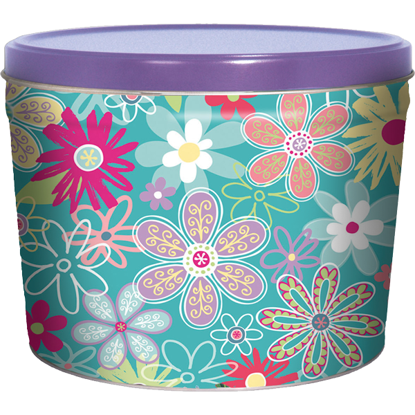 1.5LB Flower Garden Tin of Lightly Salted Chips