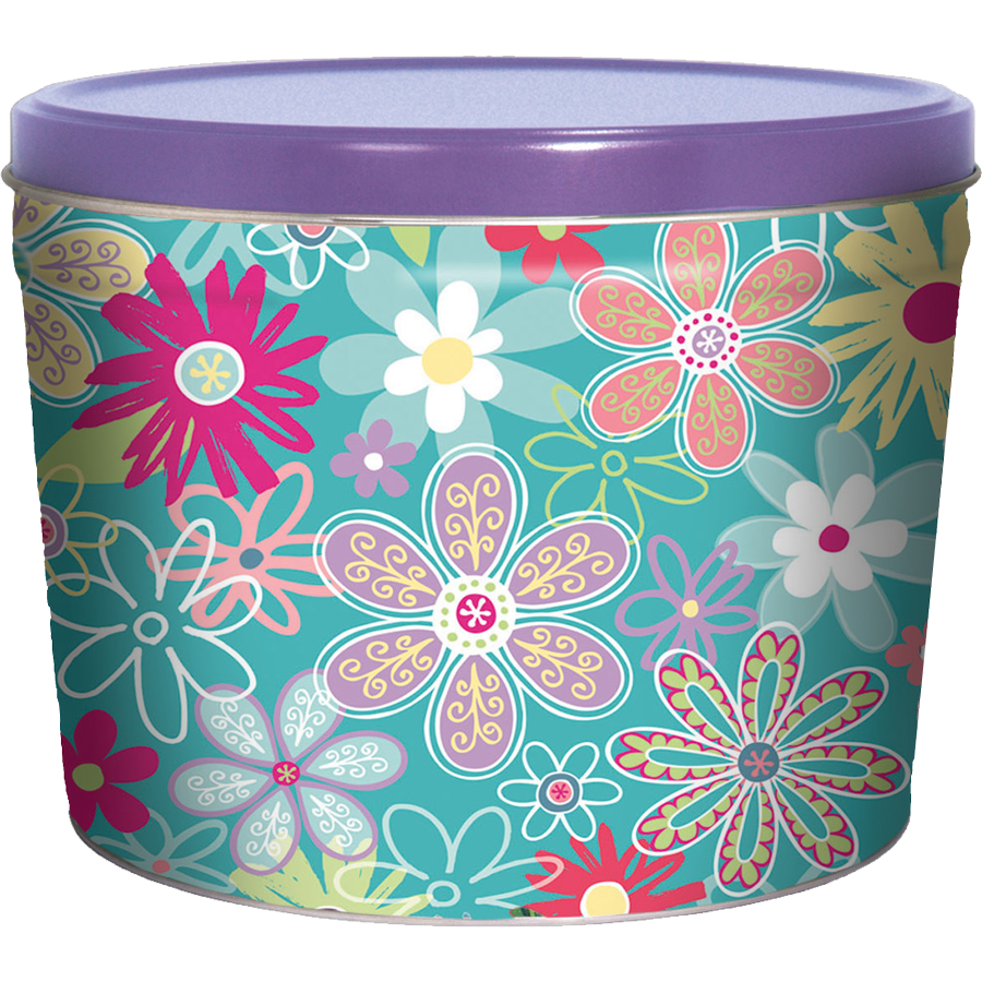 1.5LB Flower Garden Tin of Dill Pickle Chips