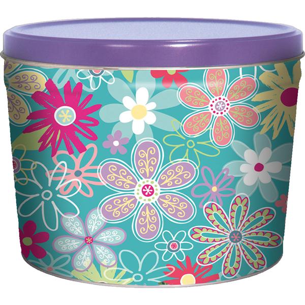 1.5LB Flower Garden Tin of No Salt Chips