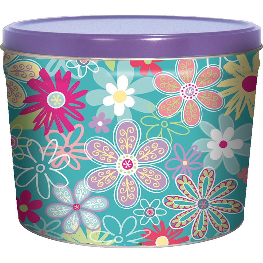 1.5LB Flower Garden Tin of Mama Zuma Habanero Chips