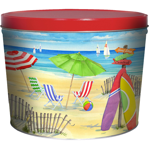 1.5 LB Beach Tin of Barbeque Chips