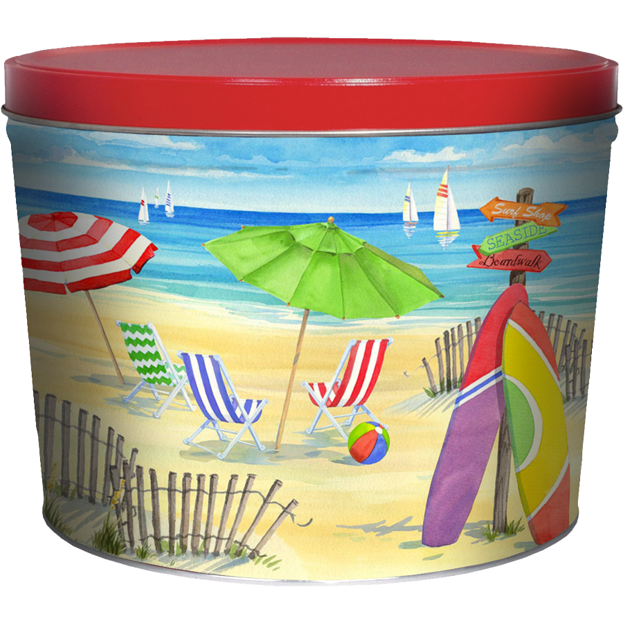 1.5 LB Beach Tin of Salt n Vinegar Chips