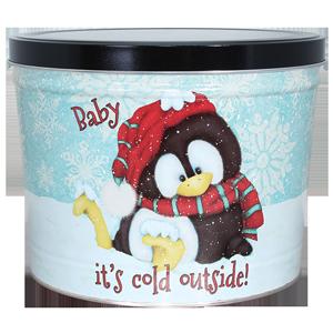 1.5 LB Penguin Tin of Sour Cream N Chive Potato Chips