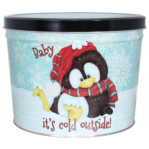 1.5 LB Penguin Tin of Salt N Vinegar Potato Chips