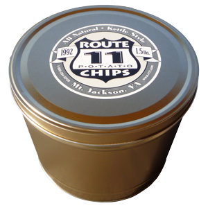 1.5LB Gold Tin of Salt & Pepper Chips