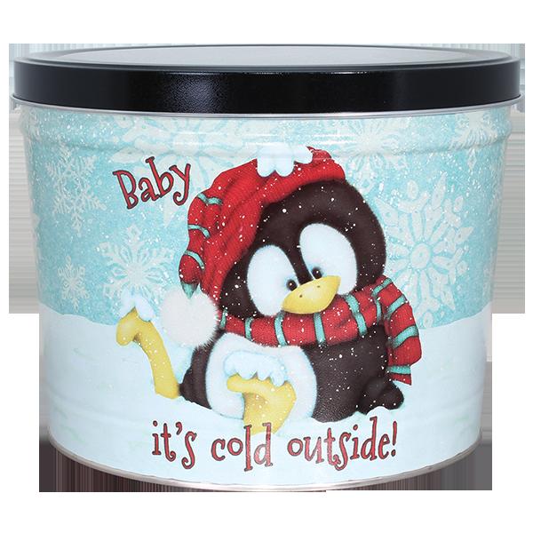 1.5 LB Penguin Tin of Salt & Pepper Chips
