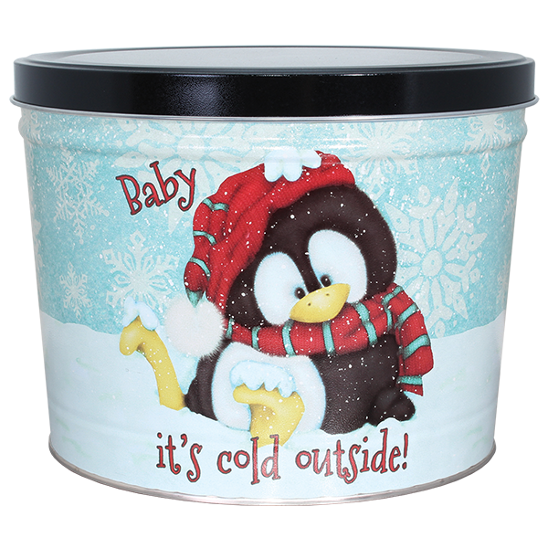 1.5 LB Penguin Tin of Sweet Potato Chips with Cinnamon and Sugar