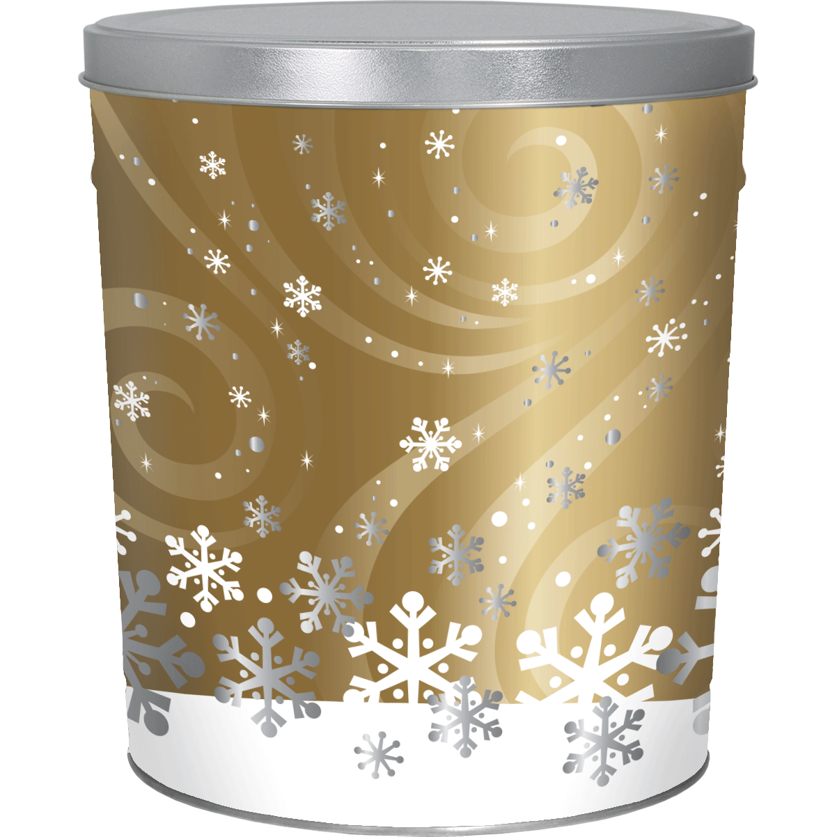 3LB Swirling Snow Tin of Chesapeake Crab