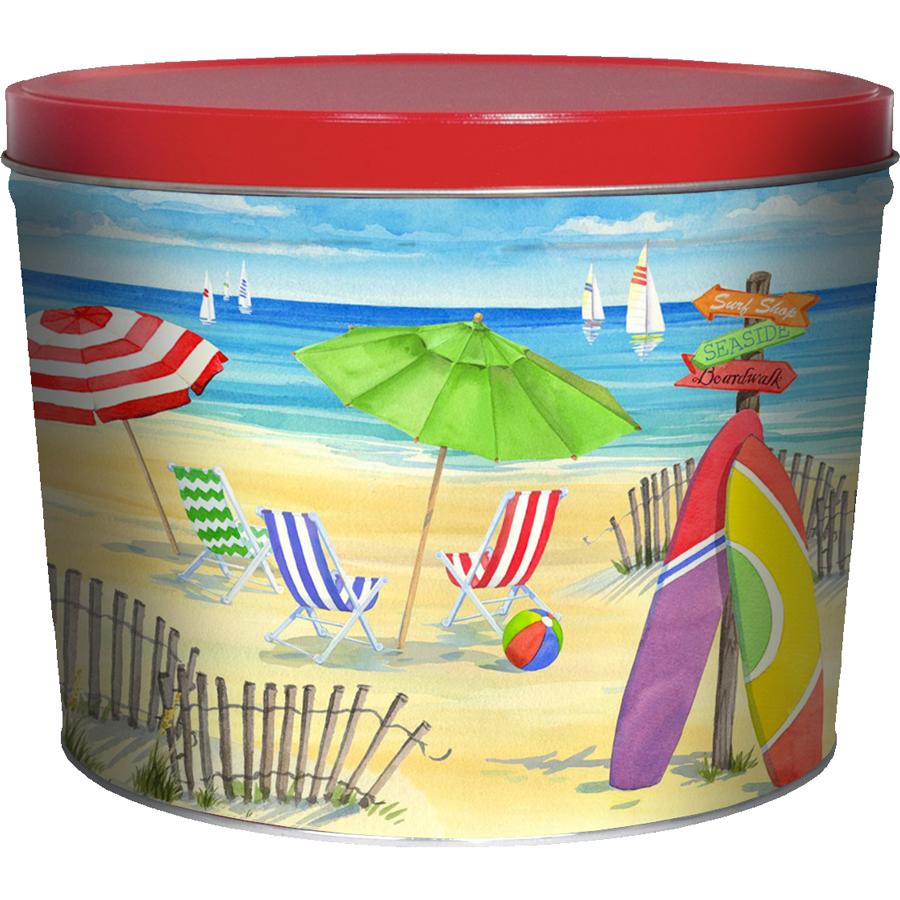 1.5 LB Beach Chairs Tin of Salt & Pepper Chips