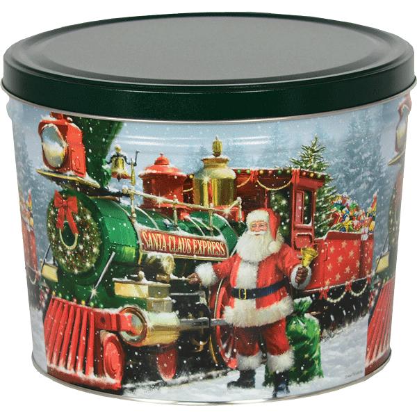 1.5 LB Santa Express Tin of Salt & Pepper Chips