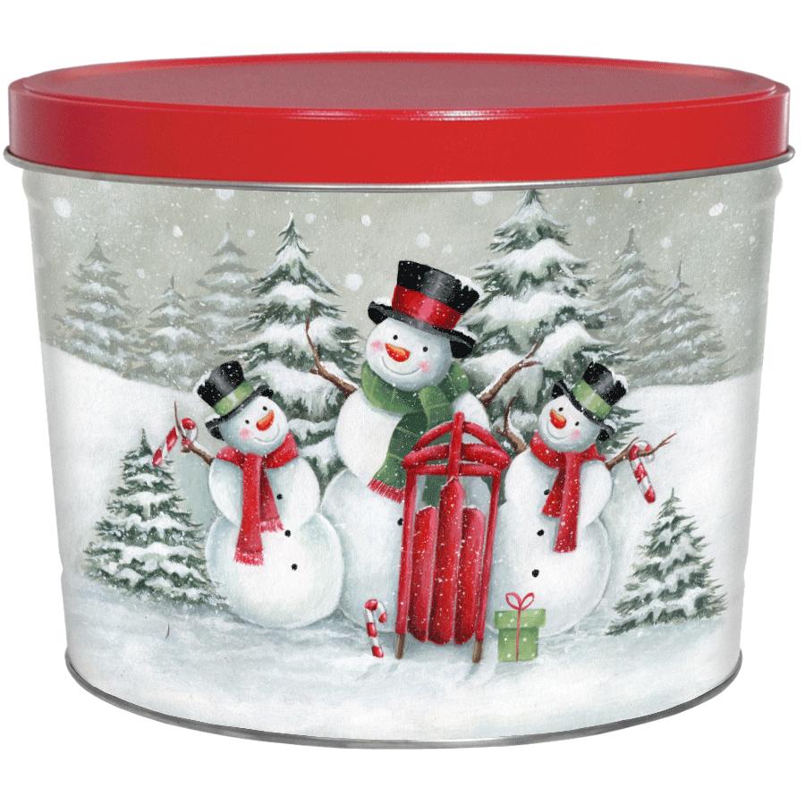 1.5 LB Top Hat Snow Family Tin of No Salt Potato Chips