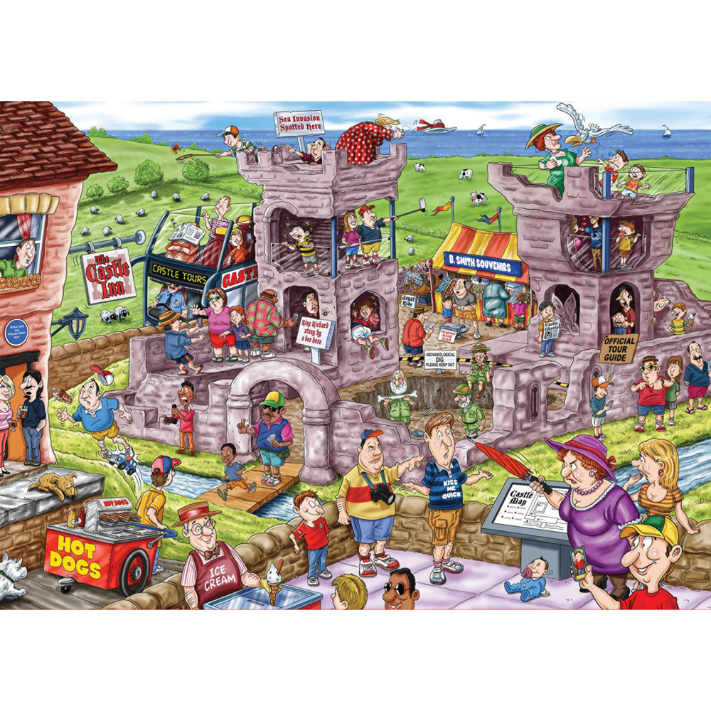 14th Century Castle 1000 Piece Wasgij Jigsaw Puzzle