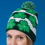 Light-Up Shamrock Cap