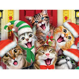 CHRISTMAS KITTY SELFIE 550 PIECE JIGSAW PUZZLE