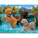 Puppies Make a Splash 500 Piece Jigsaw Puzzle