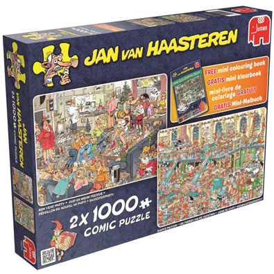 2 in 1 Multi Pack Set 1000 Piece Jigsaw Puzzles