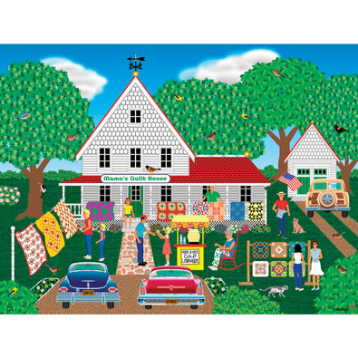Mama's Quilt House 1000 Piece Jigsaw Puzzle