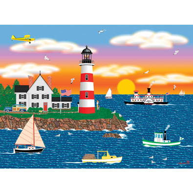 Triangle Point Lighthouse 1000 Piece Jigsaw Puzzle