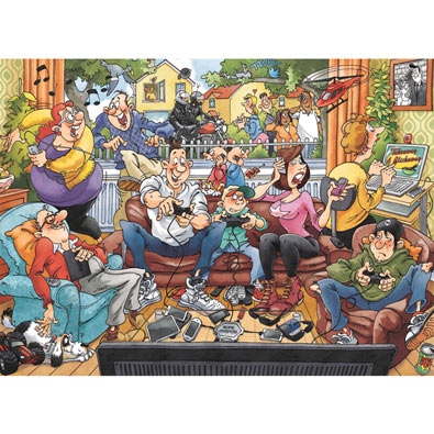 Technology in the Home 1000 Piece Wasgij Puzzle