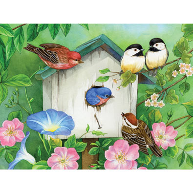 Blooming Birdhouses 500 Piece Jigsaw Puzzle