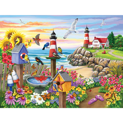 Garden by the Sea 300 Large Piece Jigsaw Puzzle
