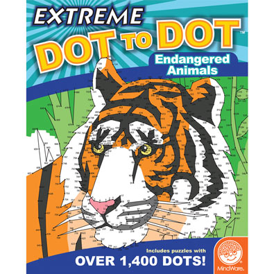 Endangered Animals - Extreme Dot to Dot Books