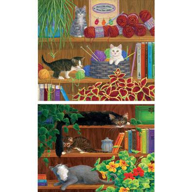 Set of 2: Linda Elliott Cat Puzzles