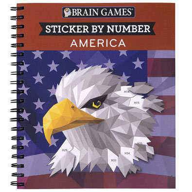 Sticker by Number Book- America