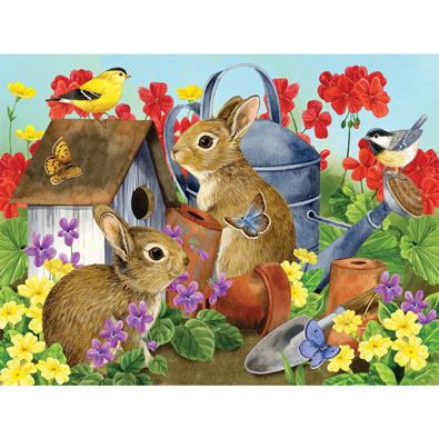 Bunnies and Birdhouses 500 Piece Jigsaw Puzzle