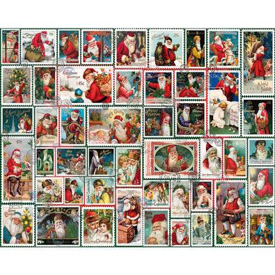 Santa Stamps 1000 Piece Jigsaw Puzzle