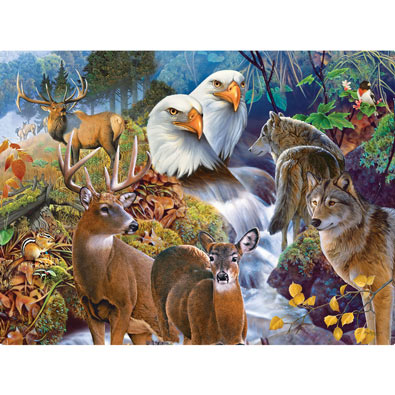 Forest Neighbors 1000 Piece Jigsaw Puzzle
