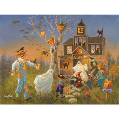 Spooky Halloween 300 Large Piece Jigsaw Puzzle