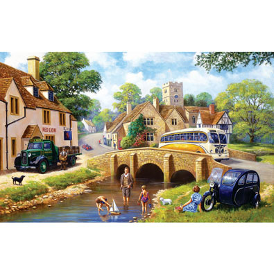 Pastime at the River 300 Large Piece Jigsaw Puzzle