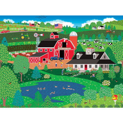 Apple Pond Spring 300 Large Piece Jigsaw Puzzle