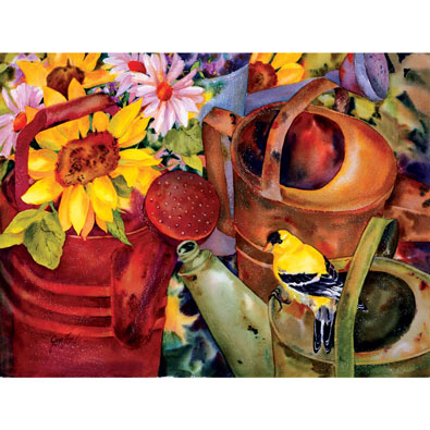 Watering Can Visitor 300 Large Piece Jigsaw Puzzle