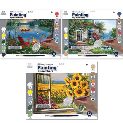 Set of 3: Painting by Numbers Summer Kits