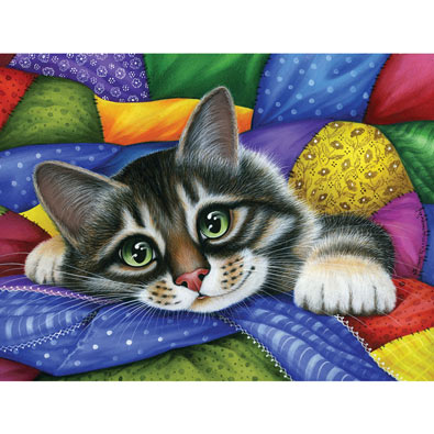 Colorful Patchwork 300 Large Piece Jigsaw Puzzle