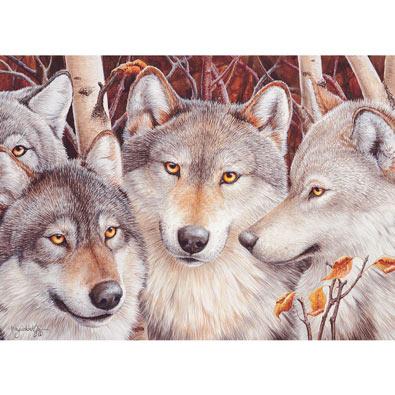 Wolf Crowd 1000 Piece Jigsaw Puzzle