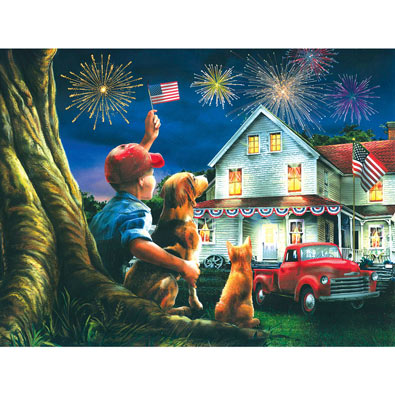 God Bless the USA 300 Large Piece Jigsaw Puzzle