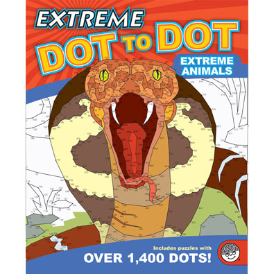 Extreme Animals-Extreme Dot To Dot Book