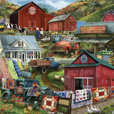 Country Compilation 300 Large Piece Jigsaw Puzzle