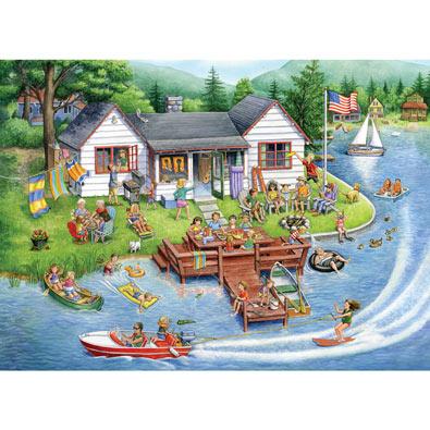 Lake House 1000 Piece Jigsaw Puzzle