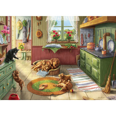 Golden Puppies 1000 Piece Jigsaw Puzzle