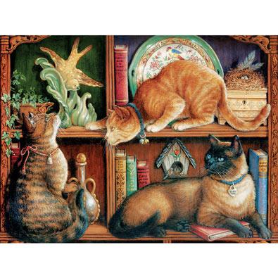 Cat Shelf 500 Piece Jigsaw Puzzle